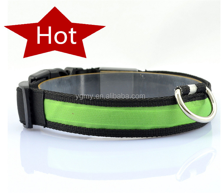 Beautiful Pet Dog Collars and Leads LED Light Pet Mascotas Cachorro Collars Large Dogs Luminous Fluorescent Collars Harness