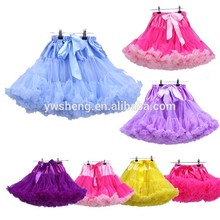 Top Quality Baby Girls Teen Beautiful Chiffon Fluffy Pettiskirts Tutu Princess Party Skirts Ballet Dance Wear Pettiskirt