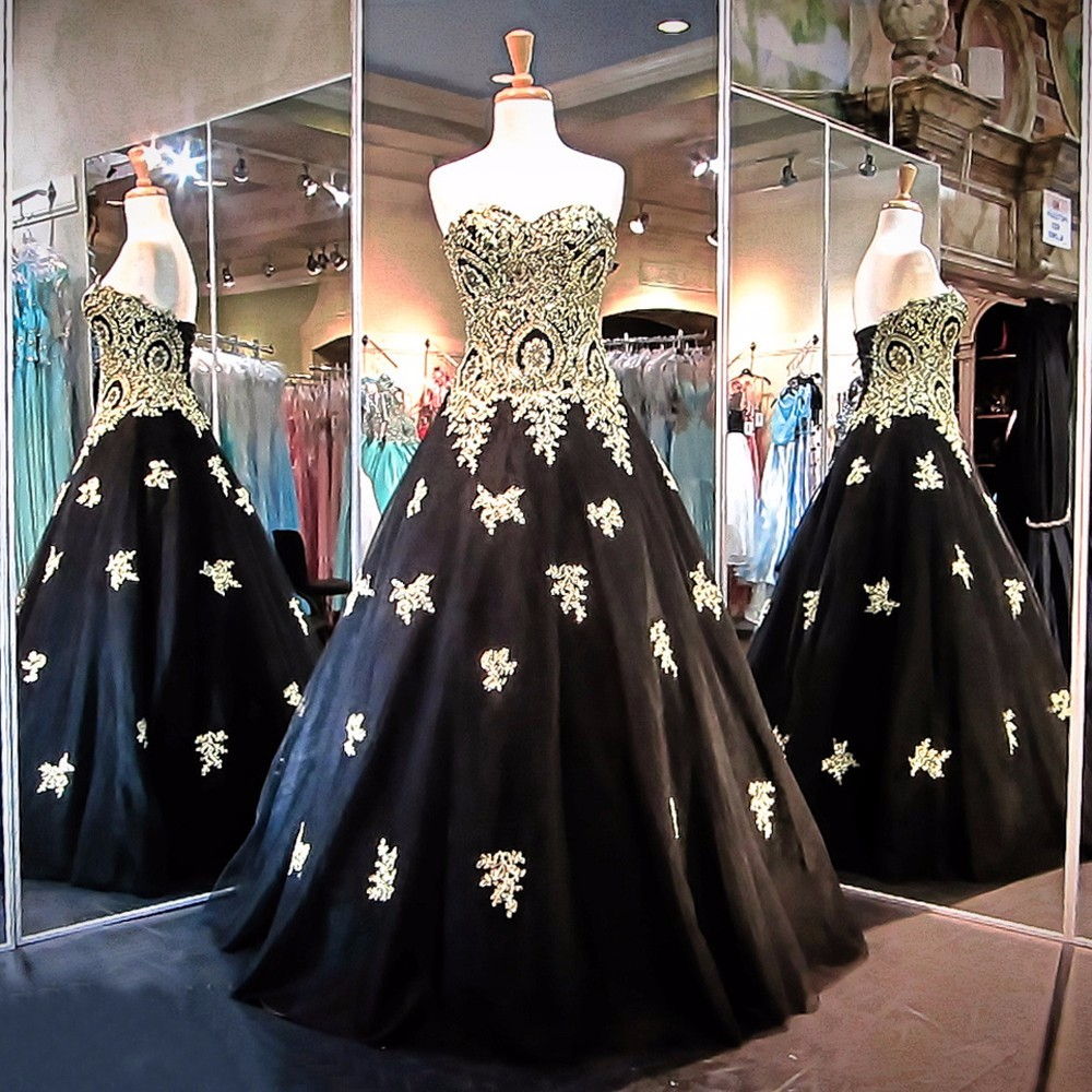 Wholesale black gold gown - Online Buy Best black gold gown from ...