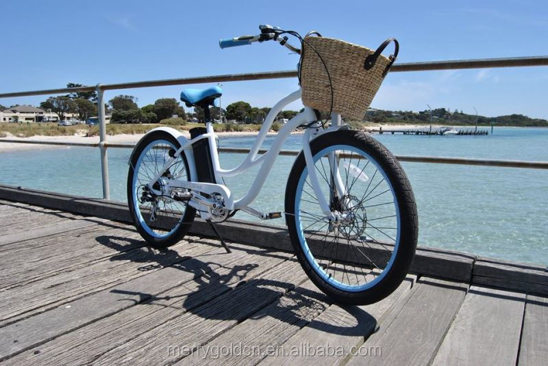 "New Model Electric Woman Beach Cruiser with Low Price 26"" Electric Bicycle"