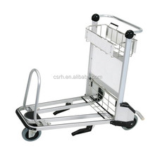 RH-J08 Aluminum Luggage Cart Airport Luggage Trolley With Brake