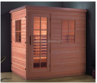 portable wood steam sauna room with bath shower screens SS613