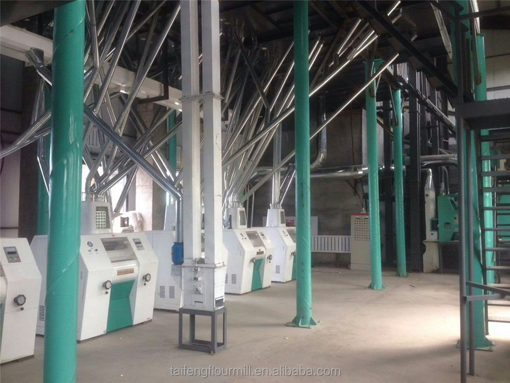 Electric corn mill/corn flour milling machine with capacity 100-120 tons per day