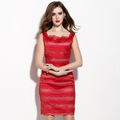 OEM fashion latest ladies summer sexy dress , wholesale red bodycon western woman dress