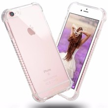Newest fashion transparent TPU bumper case for iphone skid resistance cover for iphone 5/6/6plus