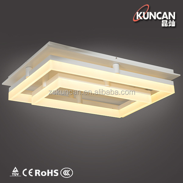 Fashionable rectangular office LED ceiling lamp
