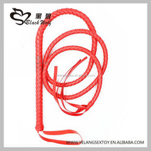 Wholesale Cheap Adult Products Fetish , 6 Color Long Leather Whip Sex Toys