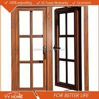 Inward/outward opening aluminium casement window with blinds
