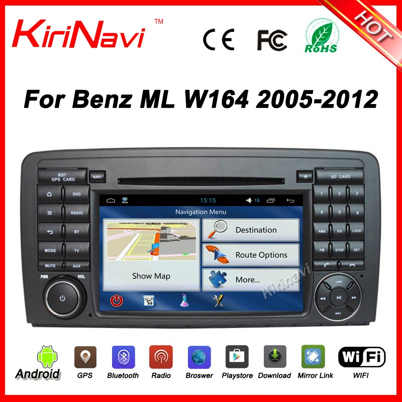 Kirinavi WC-MB7511 android 5.1 car stereo for Mercedes for benz ML Class <strong>W164</strong> ML300 ML350 ML450 ML500 2005-2012 car multimedia