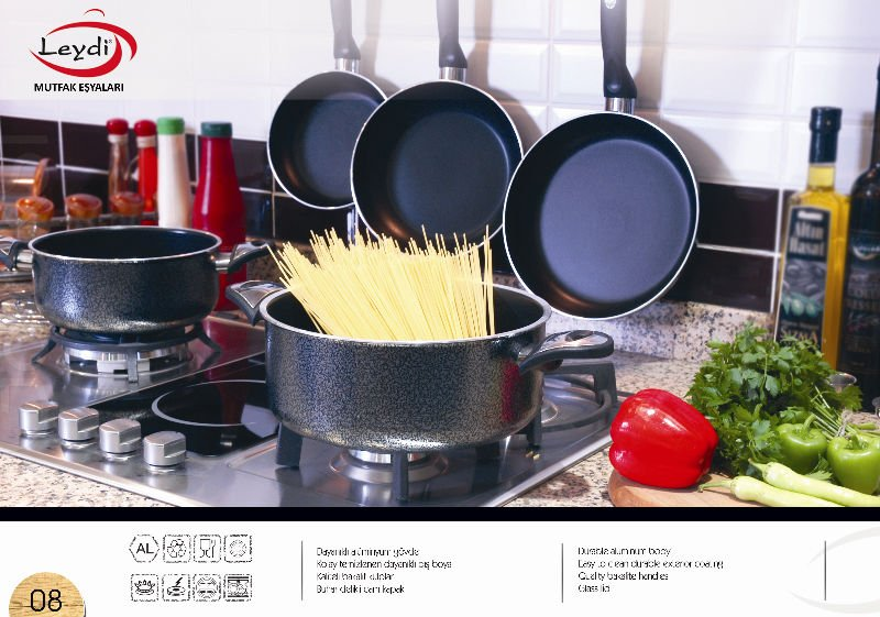 non-stick pan and pot