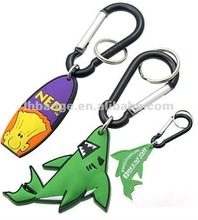 soft PVC key chain, shark key chain, rubber key chain