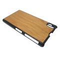 High qiality PC bottom cherry wood case for Sony Z1