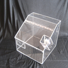 Clear acrylic mini candy bin with scoop and lid