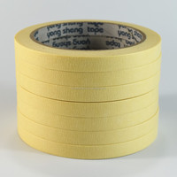 Decorative heat resistant automotive masking tape crepe paper, yellow masking tape