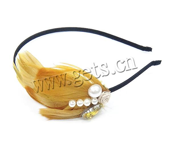 iron bridal flower feather hair accessories