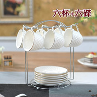 Eco-Friendly china supplier 12 pcs ceramic coffee cup and saucer