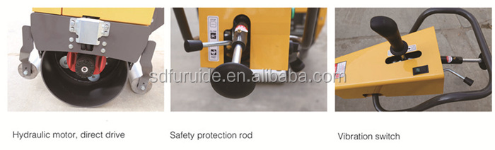 FYL-750 Manual 20KN Gasoline Single Drum Hydraulic Vibration Road Roller