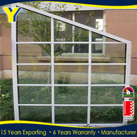 New design with aluminum profile and double glass window for sun room