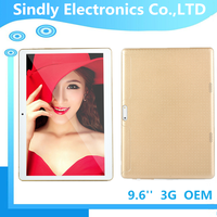 Big screen IPS screen tablet pc with 3G phone call, tablet 9.6 inch WIFI 3G quad core 5MP camera