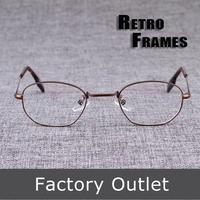 Retro full-rim optical frames,narrow frames with handmade temple