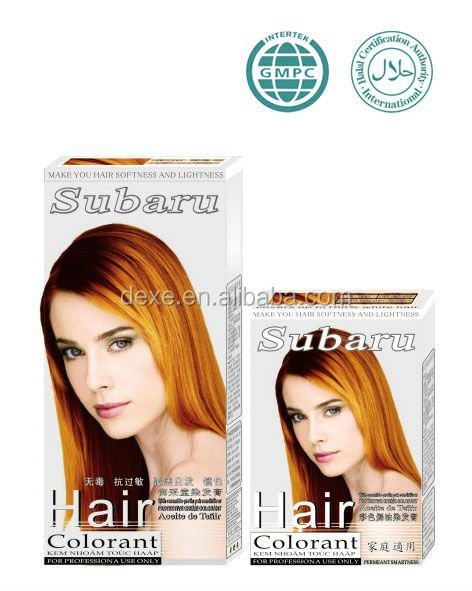Private lable permanent shiny henna color yellow hair coloring cream