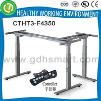 Excellent quality 3 legs Electric Height Adjustable L-shape Table Frame