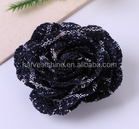 Decorative felt flower,handmade black rose flower,popular new fabric flower