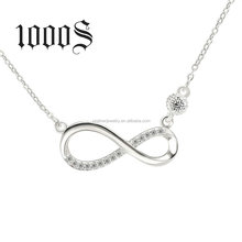 Sterling Silver Infinite Necklace Wholesale Latest New Designs Bulk Sale Jewelry Factory