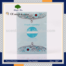 Creative aroma hanging various customized support air humidifier fragrance sachet/ aroma sachet/scented pouch bags