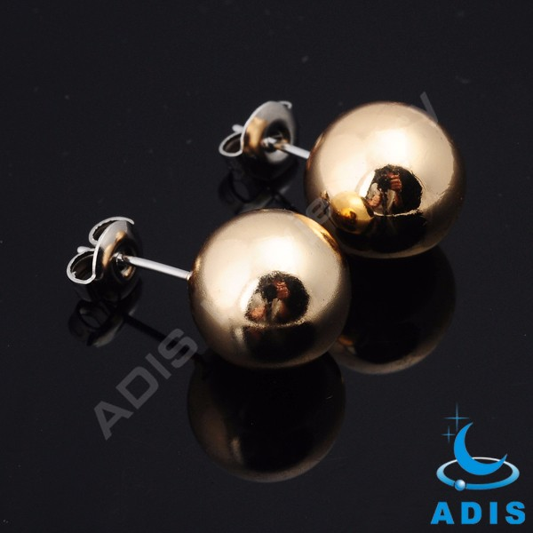 Ear plug piercing jewelry women stainless steel ear stud with ball