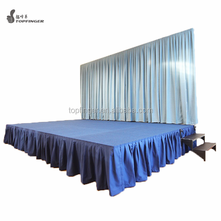 Hottest ! TFR aluminum portable stage platform used stage curtains for sale