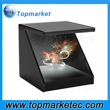 22 inch 180 degrees 3D Holographic Showcase 3D Hologram Pyramid Holographic Advertising Equipment