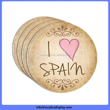 Cost price customized acrylic craft coaster