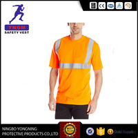 cheap Silver Reflective protective safety t shirt printing