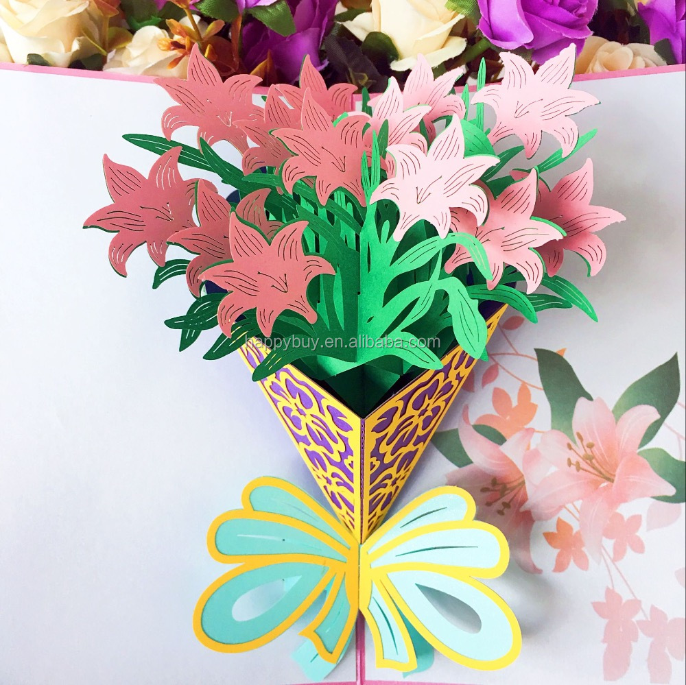 Beautiful lily flowers 3d pop up thanksgiving greeting card buy beautiful lily flowers 3d pop up thanksgiving greeting card buy fairy pop up cardsbeautiful handmade greeting cardcustom pop up greeting cards product izmirmasajfo