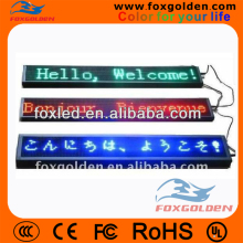 Alibaba expressing hot sale p10 single/dual color message and bus led display