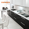 China Manufacturer Modern Design Handles And Basket Black Lacquer Kitchen Stove Cabinet With Optional Fittings