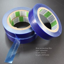 High transparency and low adhesive PE blue color plastic film