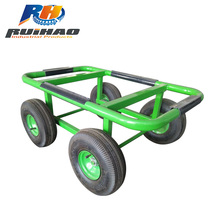 "10"" air wheel metal tool cart 37x57 cm moving dolly"