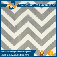 Super Soft Chevron Print Minky Velour Velboa Fabric for Baby Blankets Baby Garments