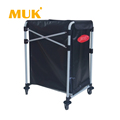 MUK hotel restaurant supplies high-grade design compact collapsible laundry cart