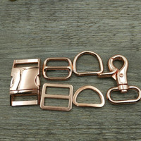 Rose Gold Metal Accessory Buckle For