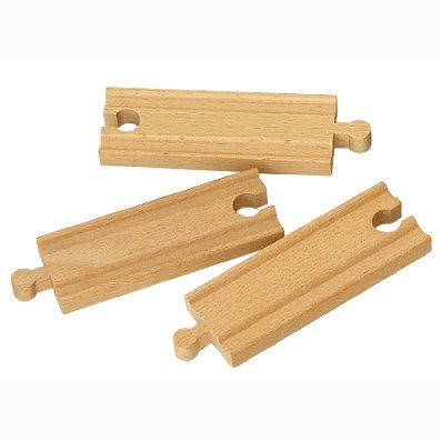 "wooden train tracks 4.25""length staight track"