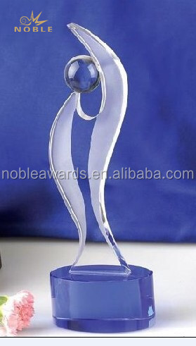 Noble Made Crystal Dance Trophy Awards with Base