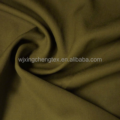 Polyester Wool Olive Gabardine Fabric For Uniform From Wujiang Runze Textile