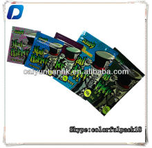 hot sale 4g 10g mad hatter herbal incense bags with zipper for sale/custom printed king kong ak-47 herbal incense bags