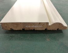 solid wood white gessoed baseboard,white primed baseboard