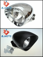 Motorcycle Chrome & Black Anti-Rust Two Beam Lamp Cover LED Driving ABS Custom Headlight Fits For Cruisers Choppers Cafe Racer