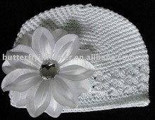 white kufi crochet hats (32 colors in stock)