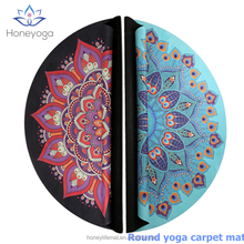 Natural Rubber Custom Printed Anti-Fatigue Round Carpet Floor Mat